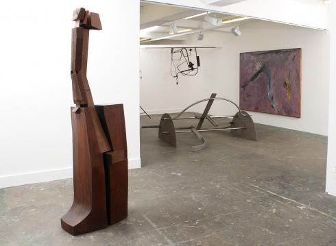 Installation of work by Anthony Caro, Tim Scott, Peter Startup and Douglas Abercrombie